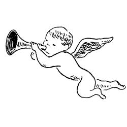レトロイラスト 天使