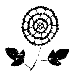 レトロイラスト 花