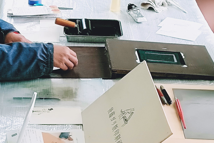 マルシェ印刷体験