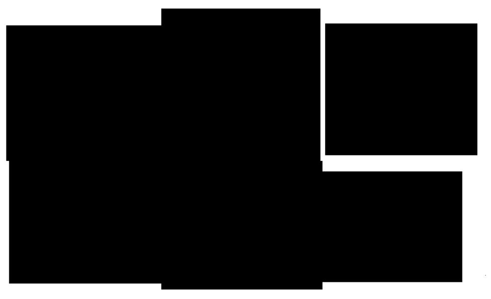 レトロなねずみの線画モノクロイラストロゴ