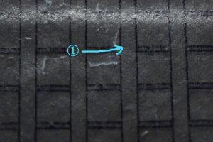 ガリ版文字明朝体の彫り方
