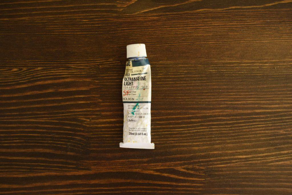 ガリ版インク代用油絵の具